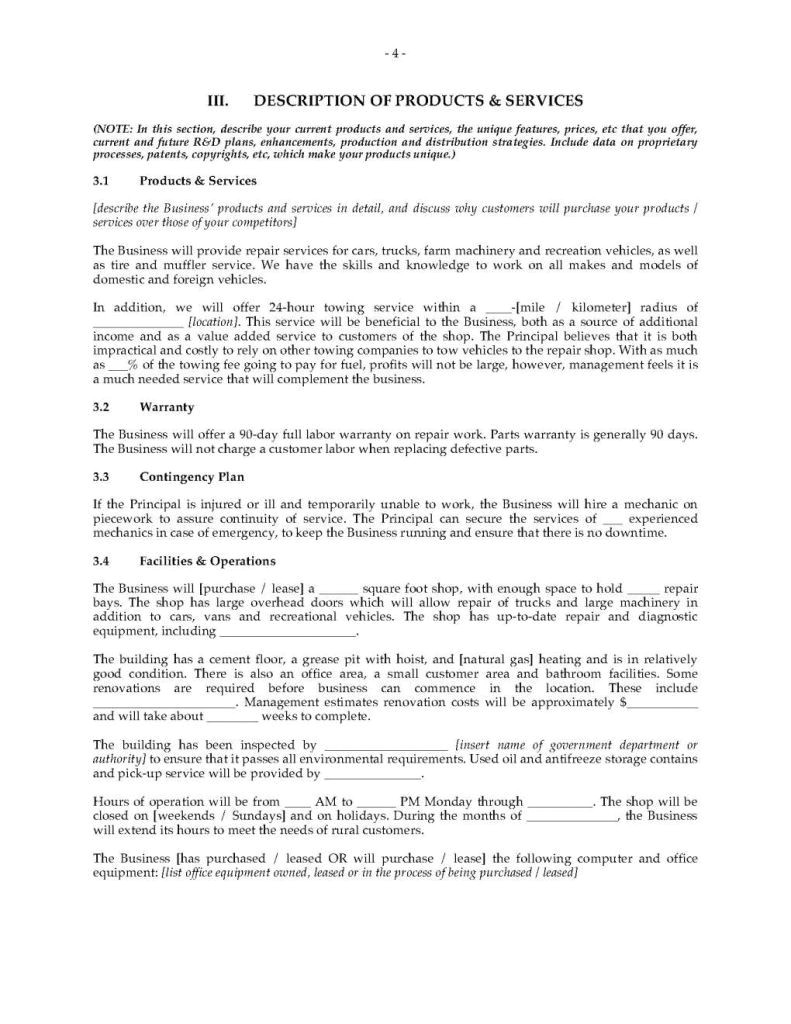 Business Plan Template for Auto Repair Shop Home Inspection Business Plan Inspirational Body Shop