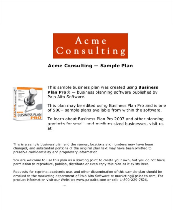 Business Plan Template for Consulting Firm 13 Consulting Business Plan Templates Free Word Pdf