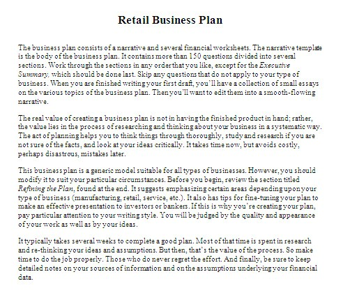 retail store business plan template qo mid related searches qsrc 1