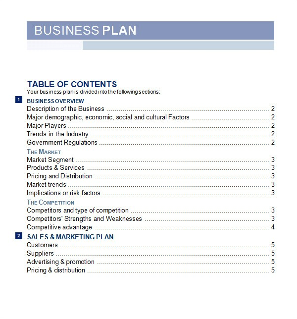 Business Plan Templates Word 30 Sample Business Plans and Templates Sample Templates