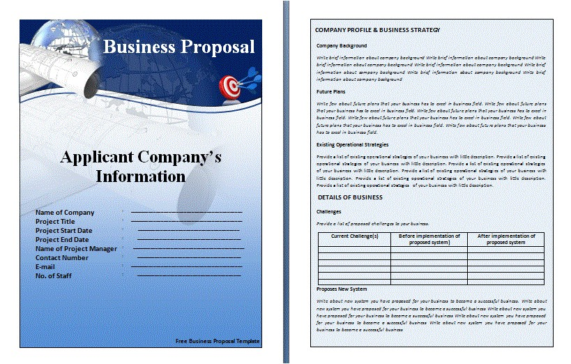business proposal templates