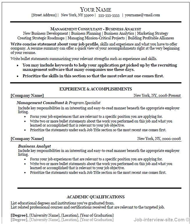 Business Resume Template Free Professional Resume Template Word Learnhowtoloseweight Net