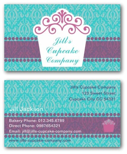 cake business cards templates free