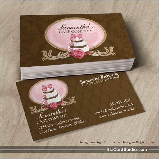 elegant cake bakery business cards 240580902210988442