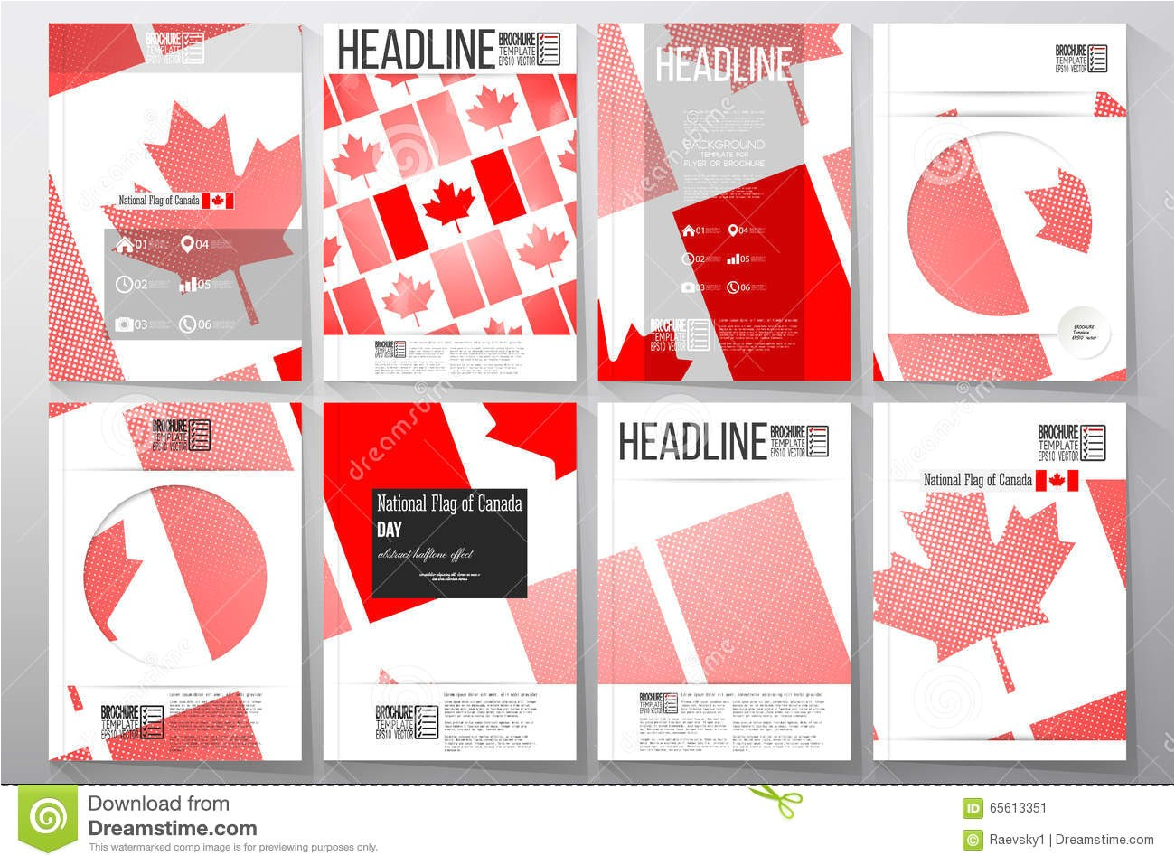 Canada Brochure Template Business Templates for Brochure Flyer or Booklet