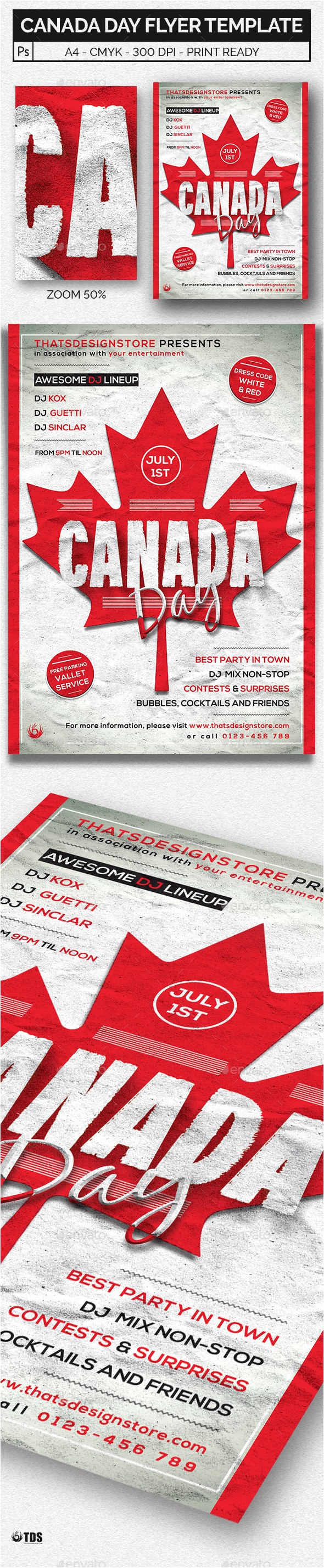 Canada Brochure Template Canada Day Flyer Template by Lou606 Graphicriver