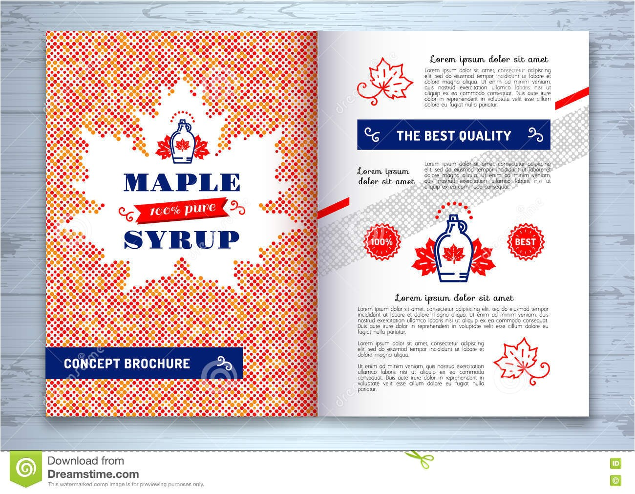 Canada Brochure Template Maple Syrup Brochure Corporate Identity Maple Leaf