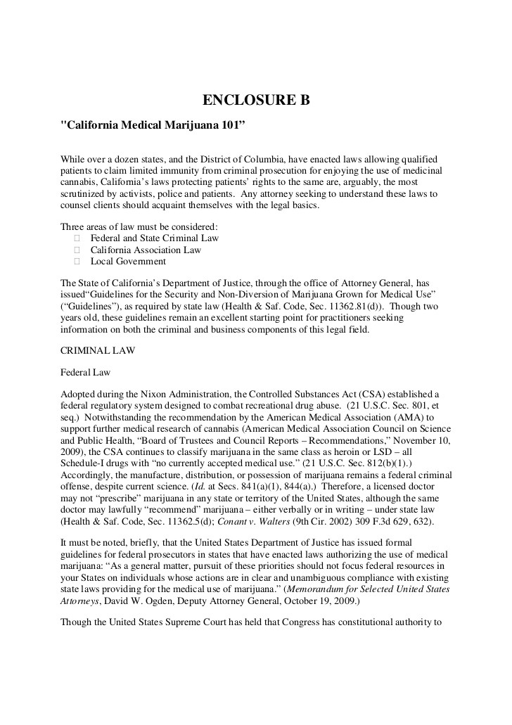 medical marijuana resume