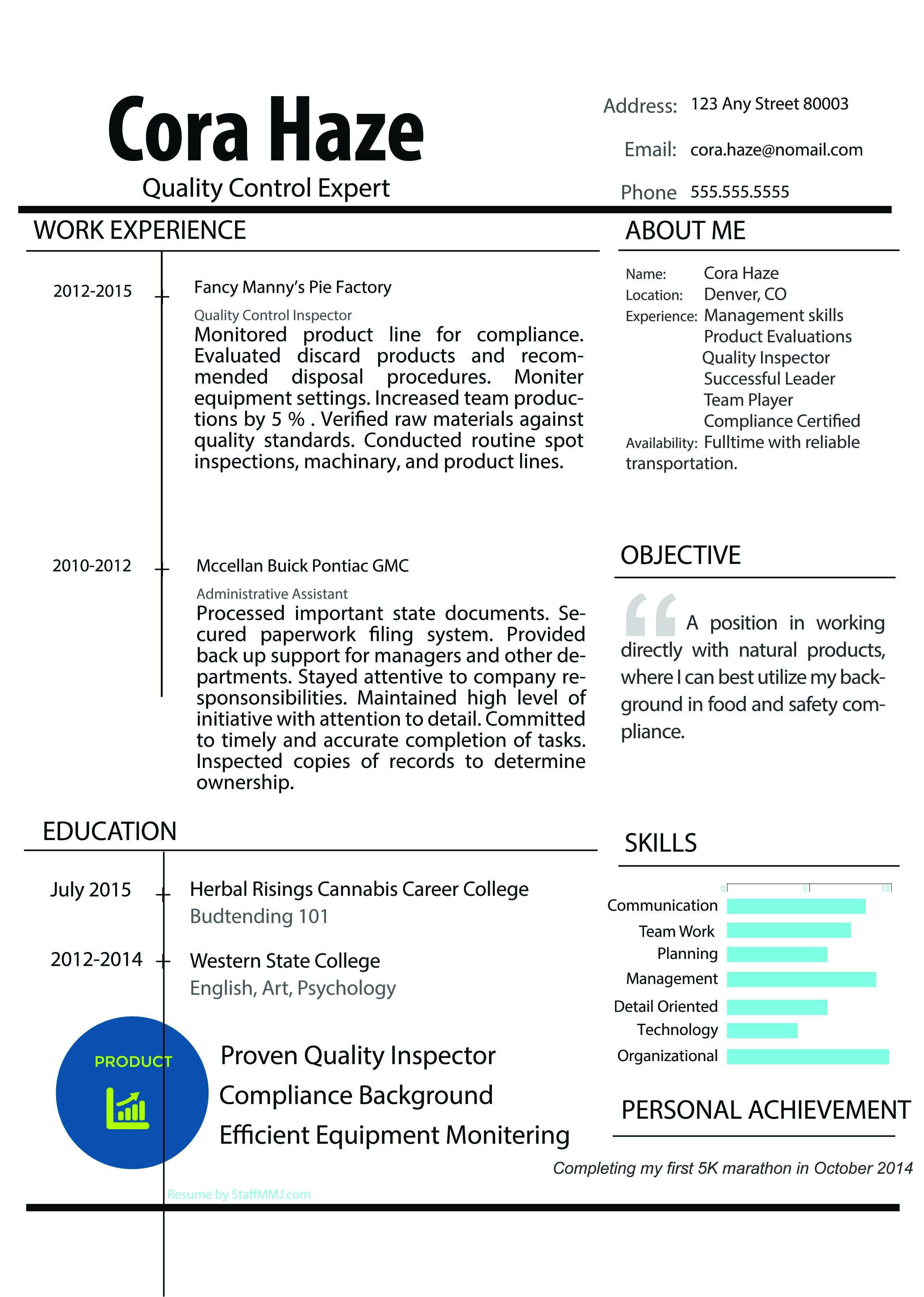 Cannabis Resume Template Resume Overhaul