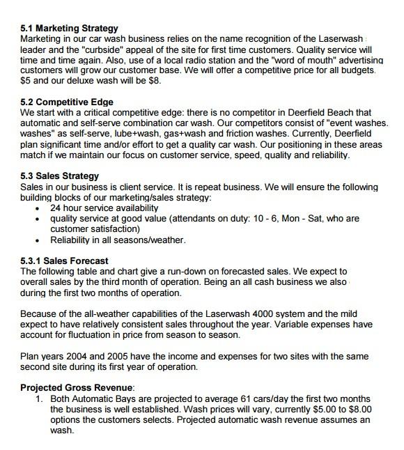 car wash business plan template