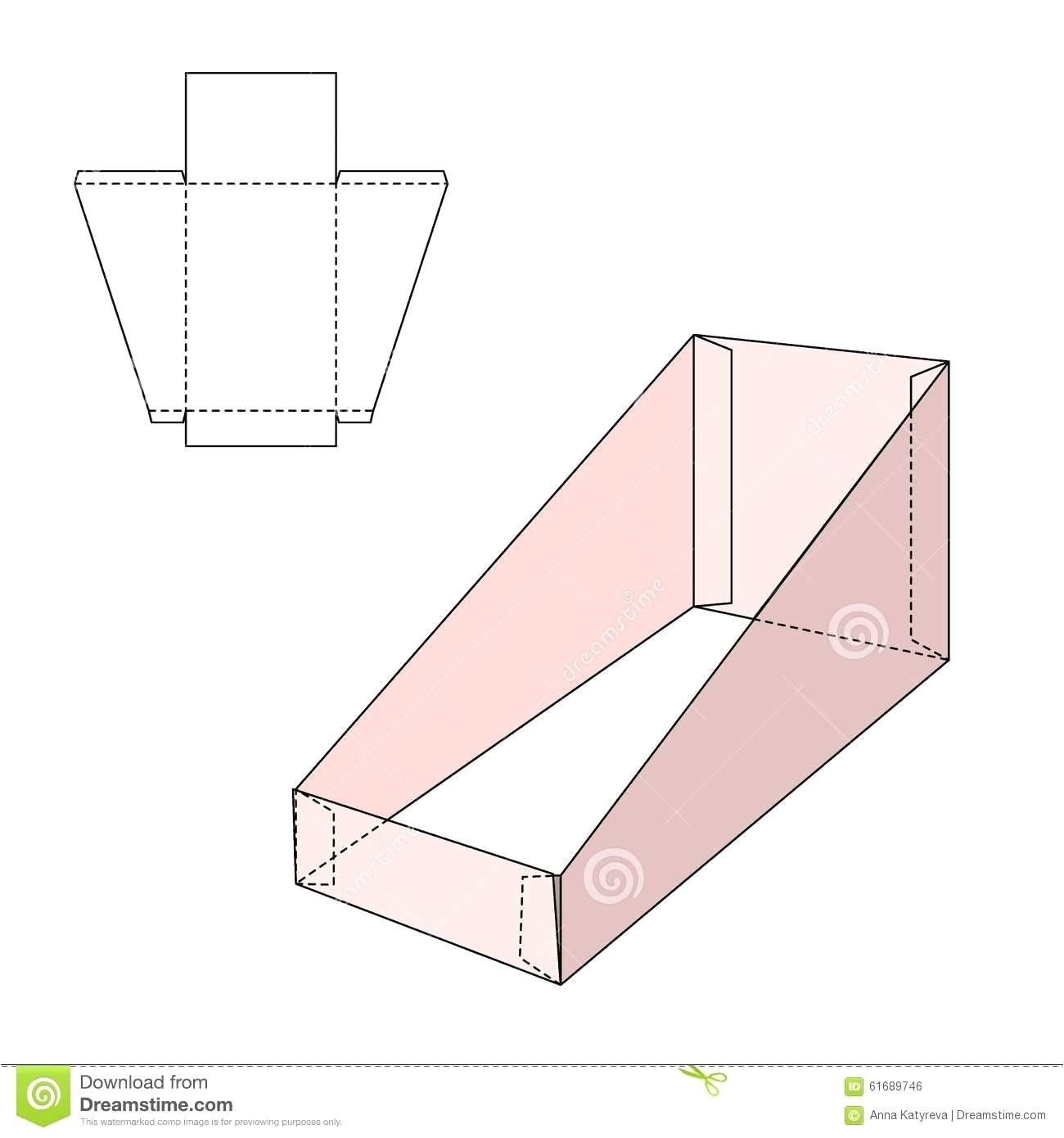 cardboard brochure holder template