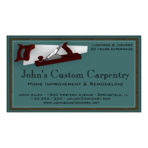 Carpenter Business Card Template 1 000 Carpentry Business Cards and Carpentry Business