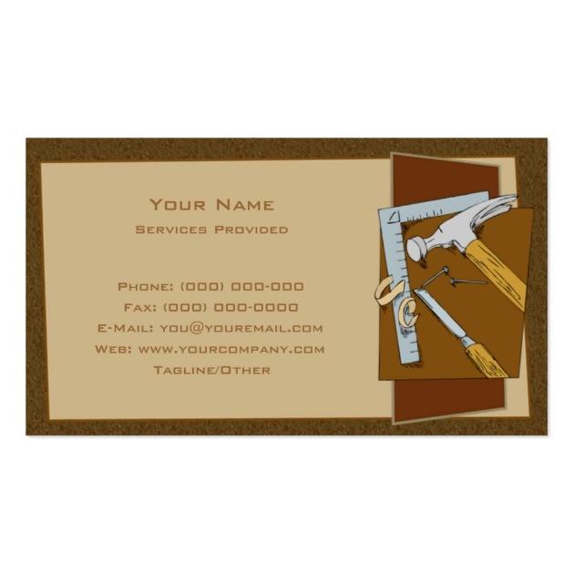 carpenter business card template 240934750538185933