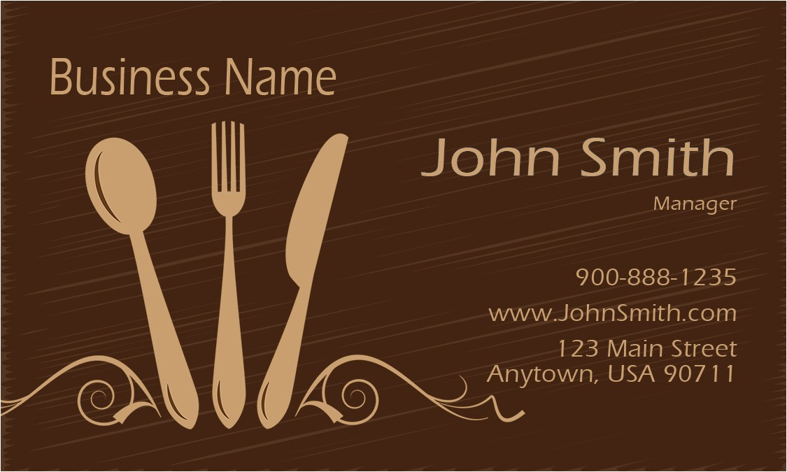 Catering Business Cards Templates Free Catering Business Cards Free Templates Printifycards Com