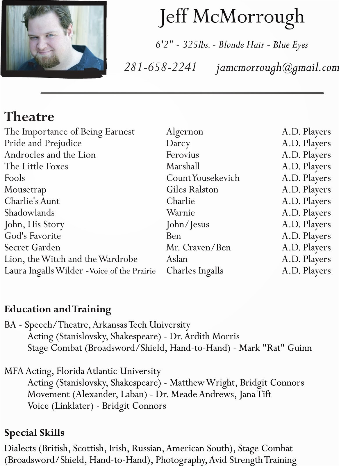 Child Modeling Resume Sample Talent Star Acting Resume Actor Beginner Kids theatre