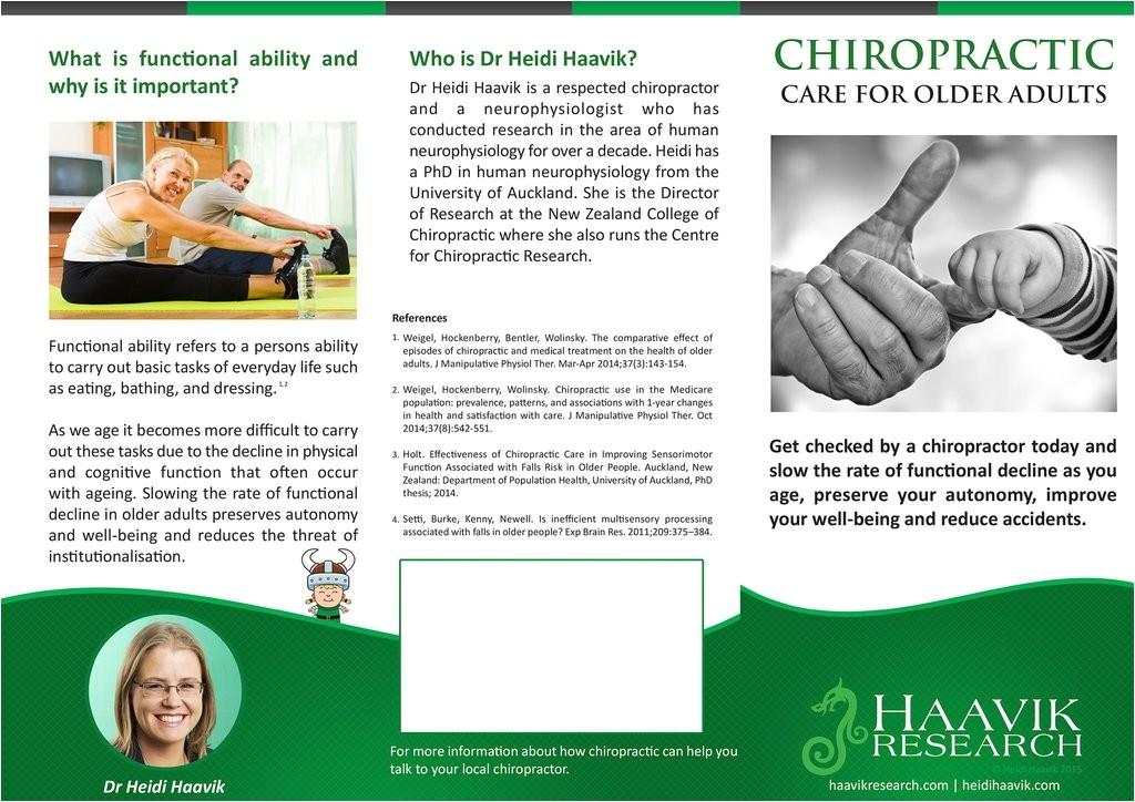 chiropractic brochures