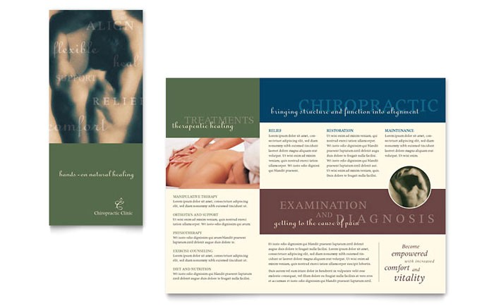 chiropractor brochure template design md0020101