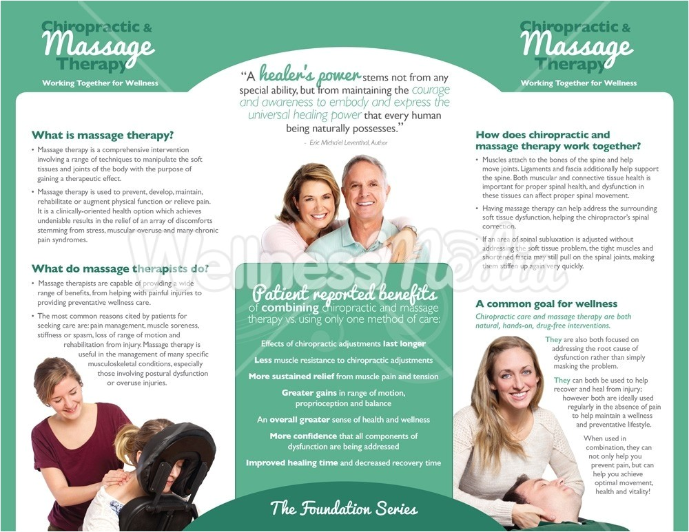 therapy brochure chiropractic and massage brochure templates