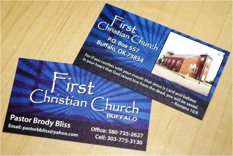free printable church business cards