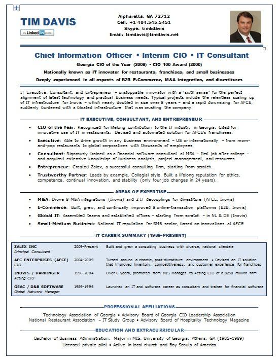 Cio Resume Samples Resume Samples Chief Information Officer Cio E Commerce