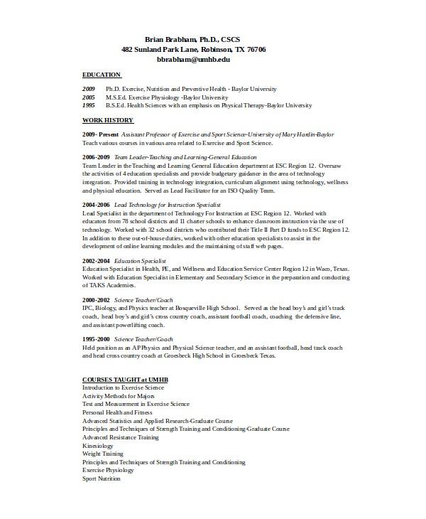 Coach Resume Template 10 Coach Resume Templates Pdf Doc Free Premium