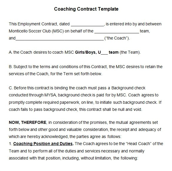 executive coaching proposal template