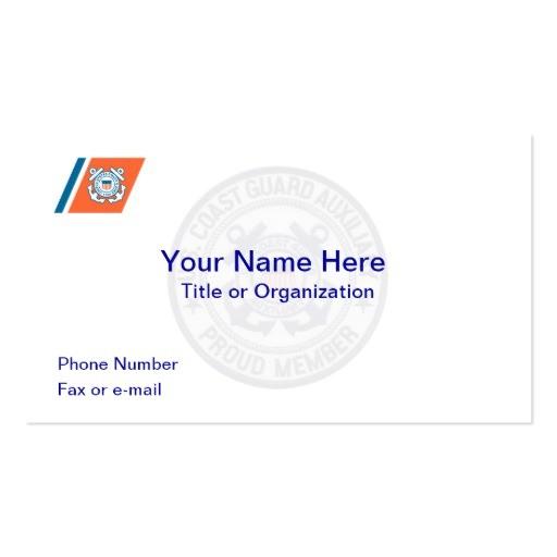 Coast Guard Auxiliary Business Card Template Coast Guard Auxiliary Business Card Zazzle
