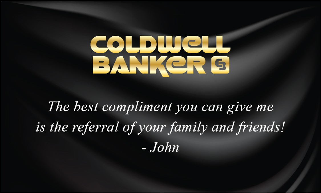 black silk coldwell banker business card with photo 104142