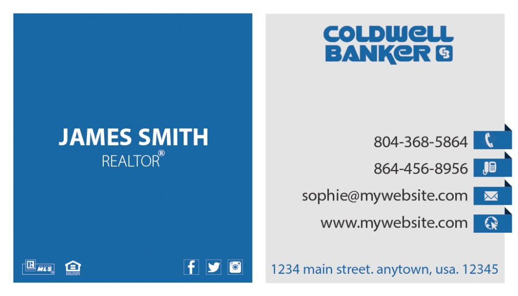 coldwell banker business cards rsd cb 120