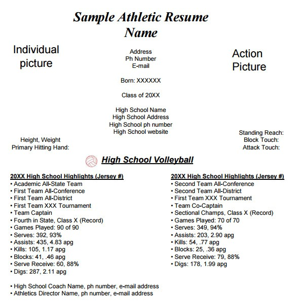 College athlete Resume Sample 9 Sample College Resume Templates Free Samples