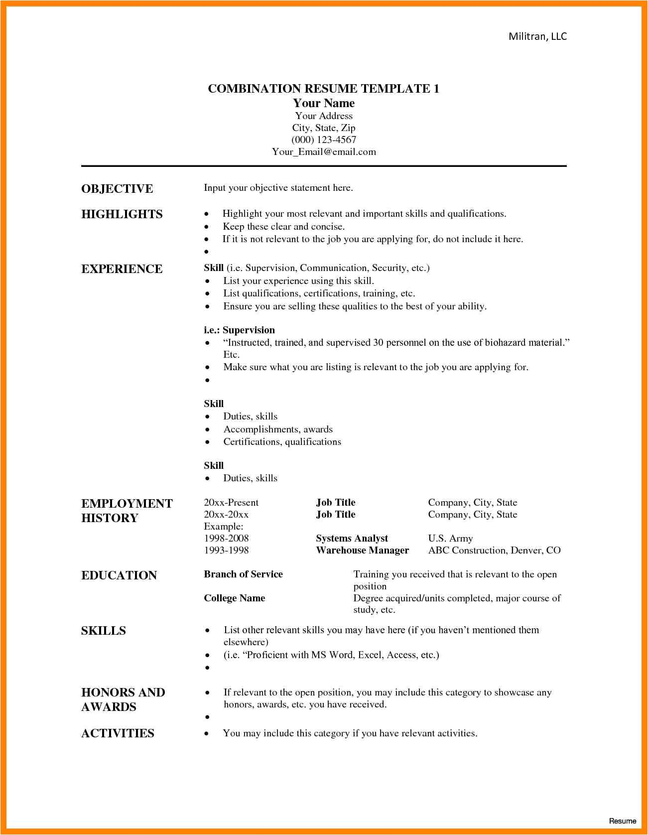 7 combination resume meaning hostess resume 2