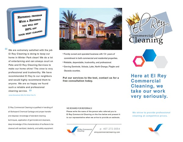 cleaning brochure template
