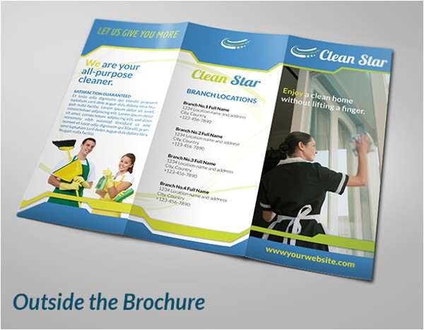 cleaning company brochure
