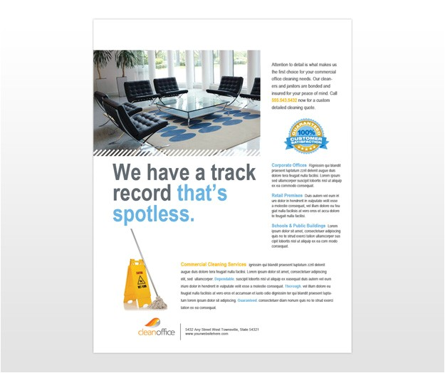 commercial office cleaning flyer template