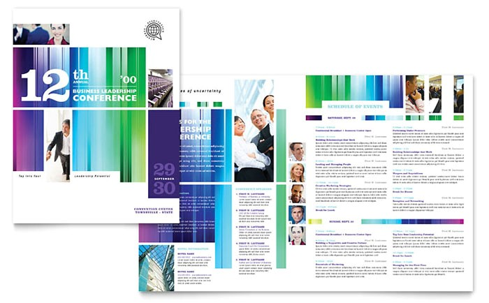 Conference Brochure Template Free Business Leadership Conference Brochure Template Design