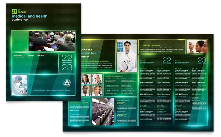 medical conference brochure templates md0350101d