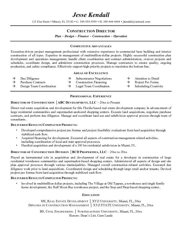 best construction resume templates samples