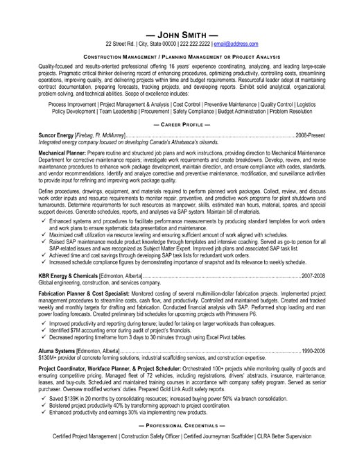 Construction Manager Resume Template Construction Manager Resume Template Premium Resume