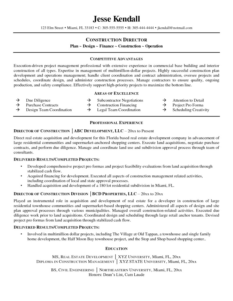 Construction Worker Resume Examples and Samples Entry Level Construction Worker Resume Samples General
