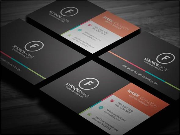 clean multicolor corporate business card template