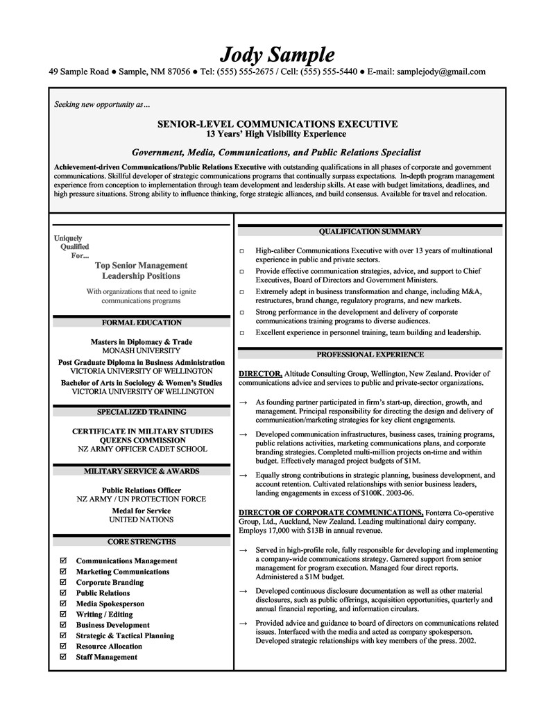Corporate Communications Resume Samples assistant Principal Resumes Senior Level Communications