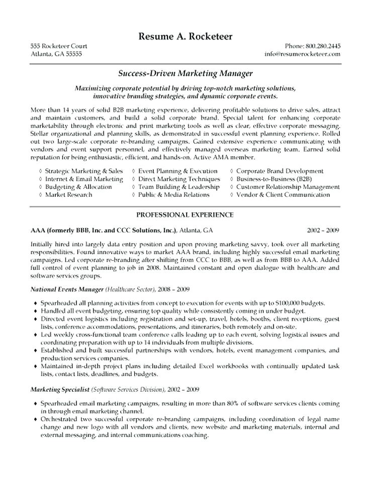 communications manager resume
