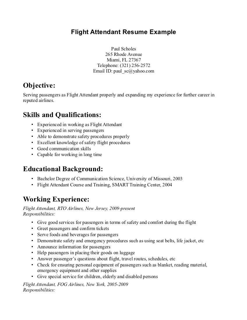 flight resume