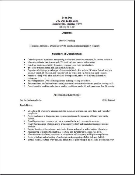 Courier Driver Resume Sample Resume Samples Courier Driver Resume