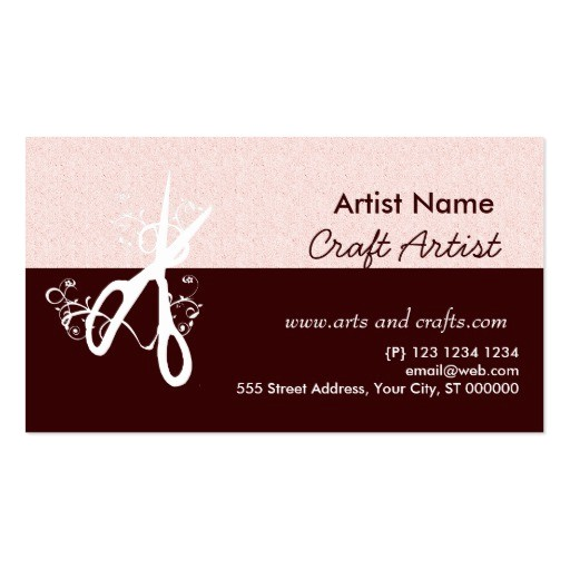 classic artist arts and crafts business card 240490608066973036