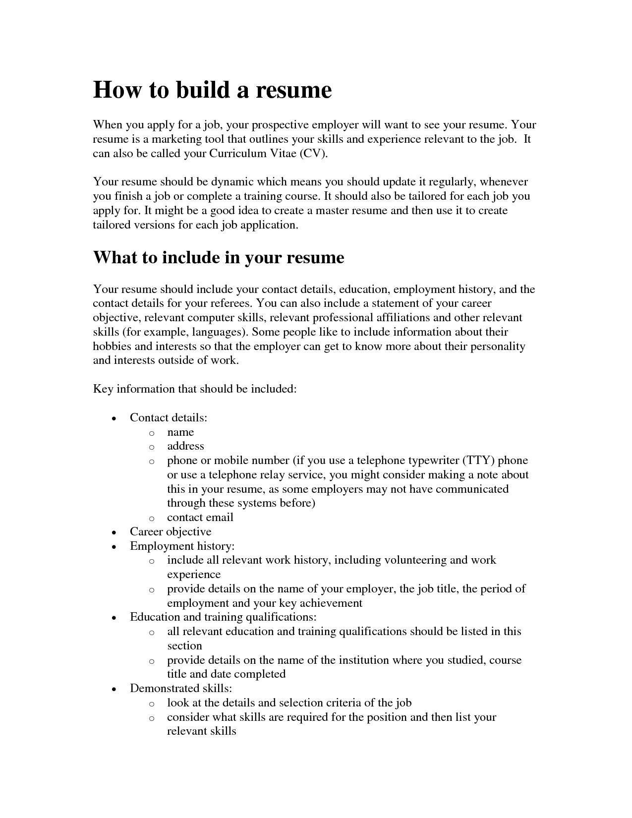 how to make a free resume