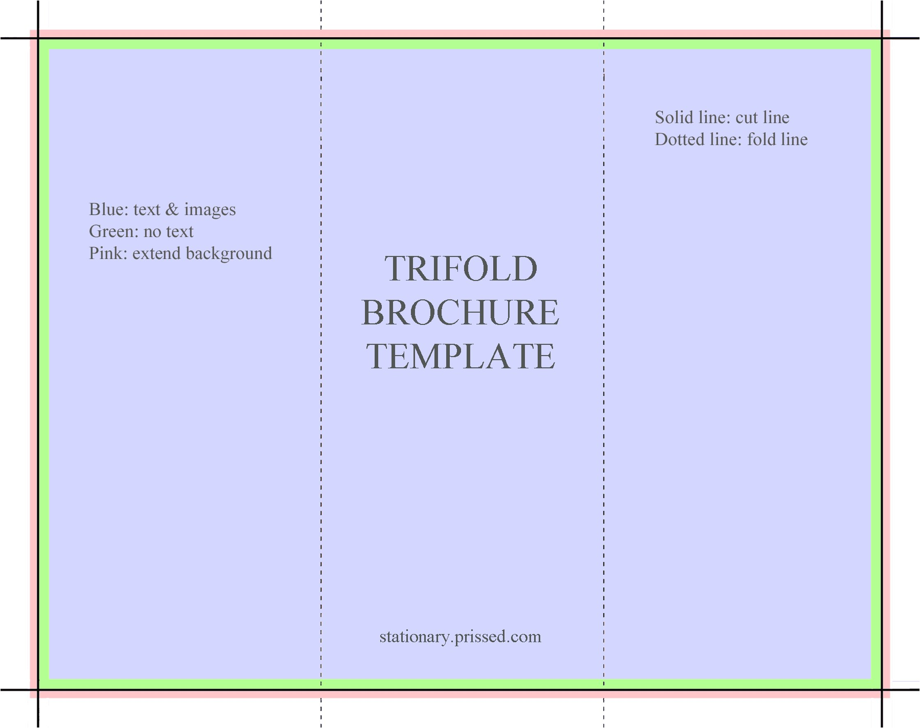 tri fold template
