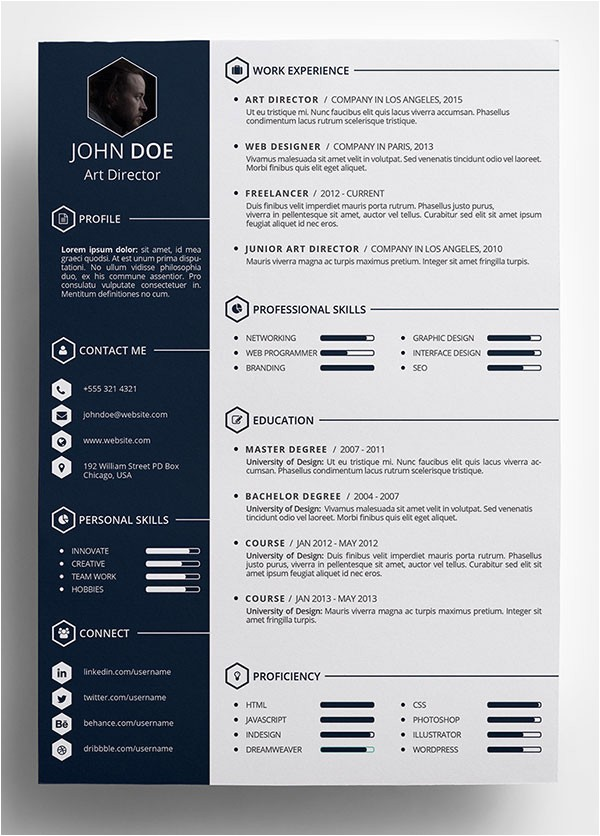 Creative Free Resume Templates 10 Best Free Resume Cv Templates In Ai Indesign Word