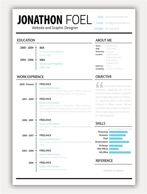 Creative Free Resume Templates 22 Free Creative Resume Template Design Related Interests