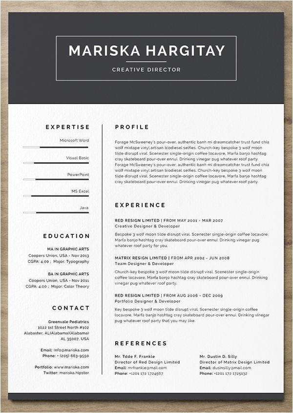 Creative Free Resume Templates 24 Free Resume Templates to Help You Land the Job